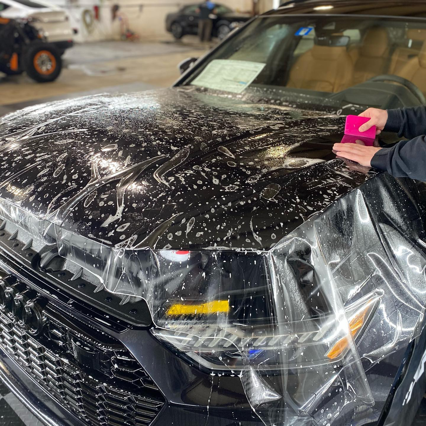 Stone chip paint protection