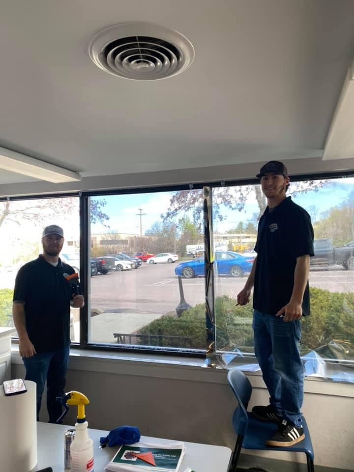 Commercial Window Tint Installation in Vermont